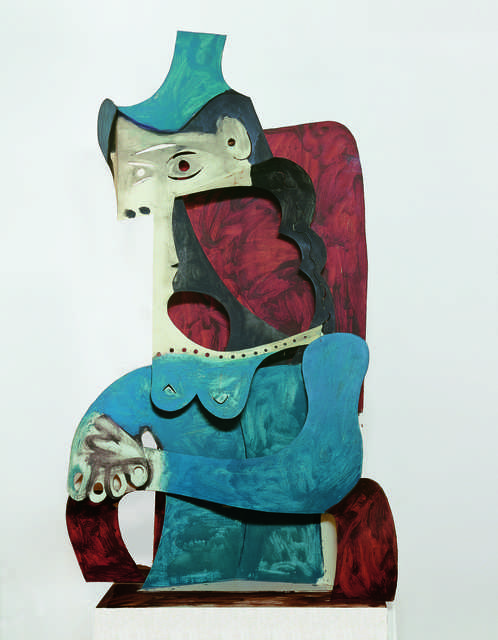 Pablo Picasso, 'Femme au chapeau (Woman with Hat)', 1961/1963, Sculpture, Sheet metal, cut out, folded, and painted in 1963, Fondation Beyeler