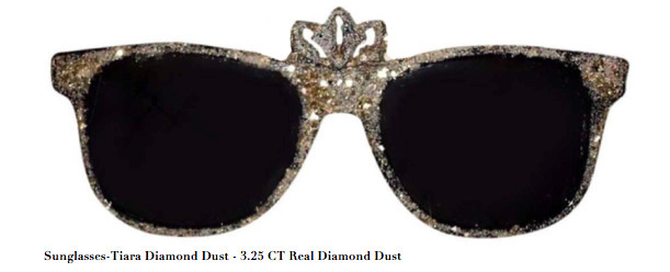 , 'Sunglasses-Tiara Diamond Dust - 3.25 CT Real Diamond Dust, Mixed Media,' , ART CAPSUL