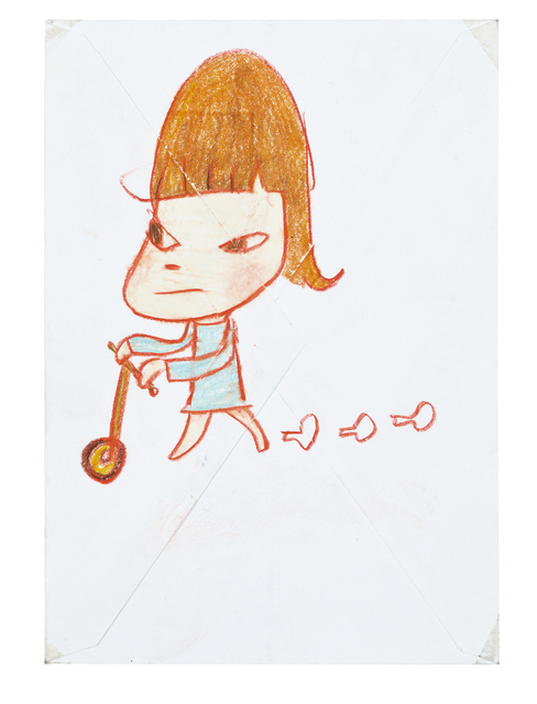 Yoshitomo Nara, 'Girl with Scooter', Seoul Auction