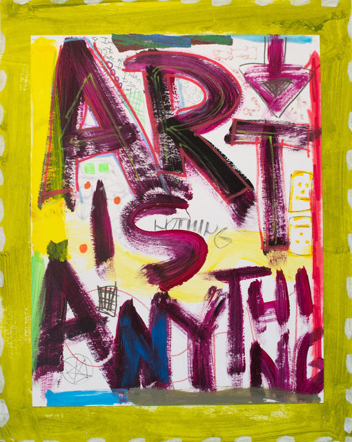 , 'Art is Anything (Green),' 2015, ArtHelix Gallery