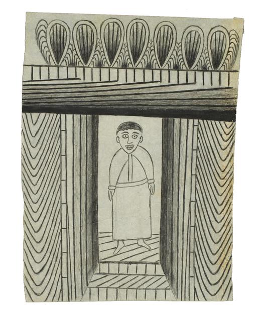 Martín Ramírez, 'Untitled (Black and White Standing Man)', c. 1950-55, Robert Berman Gallery