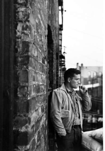 Allen Ginsberg, 'Heroic portrait of Jack Kerouac on fire-escape, 206 East 7th Street, New York', 1953, Howard Greenberg Gallery