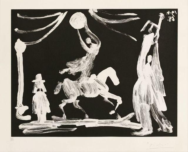 Pablo Picasso, 'Cirque: Ecuyére, And Pierrot Clown (Bloch 1522)', 1968, Sworders