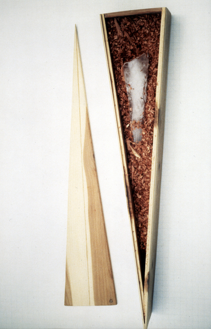 , 'Container for an Icicle (or Mind Over Matter),' 1982, di Rosa