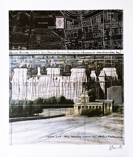 Christo, 'Wrapped Reichstag - Project for Berlin (Hand Signed)', 1984, Alpha 137 Gallery