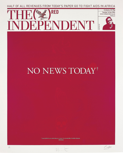Damien Hirst, 'The Independent (RED)', 2008, Print, Screenprint in colours, on wove paper, with full margins, Phillips