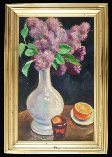 GEORGES ANATOLOVITCH DE POGEDAIEFF, 'Bouquet of Lilacs and Orange / Bouquet de lilas à l'orange', 1964, Gilden's Art Gallery