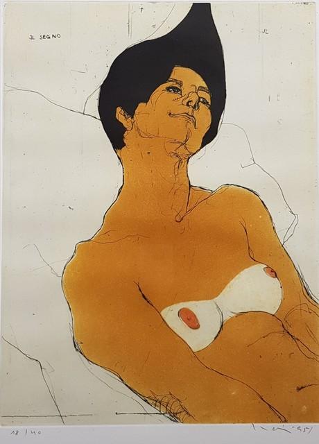 , 'Nu assis [gravure couleur] 18/40,' 1995  , Galerie Marie-Robin