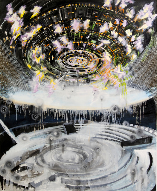 ", '""Polaris"" painting from Encounter 16-B-1,' 2016, Linda Warren Projects"