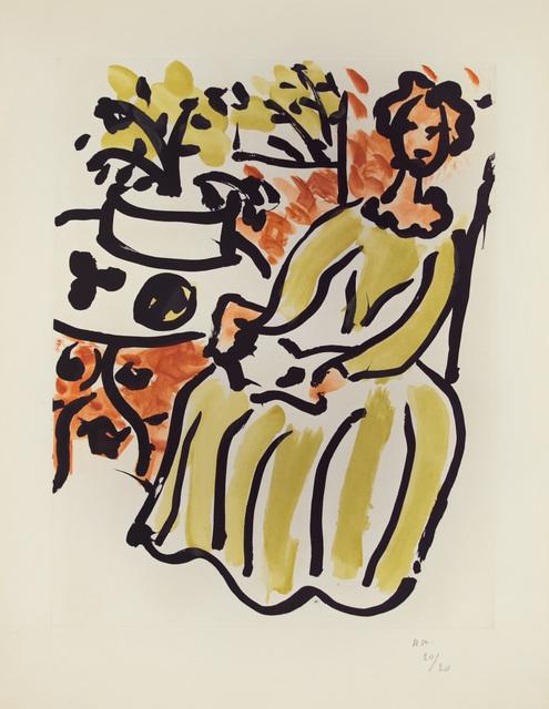 , 'Marie-José en robe jaune,' 1950, Marlborough Gallery