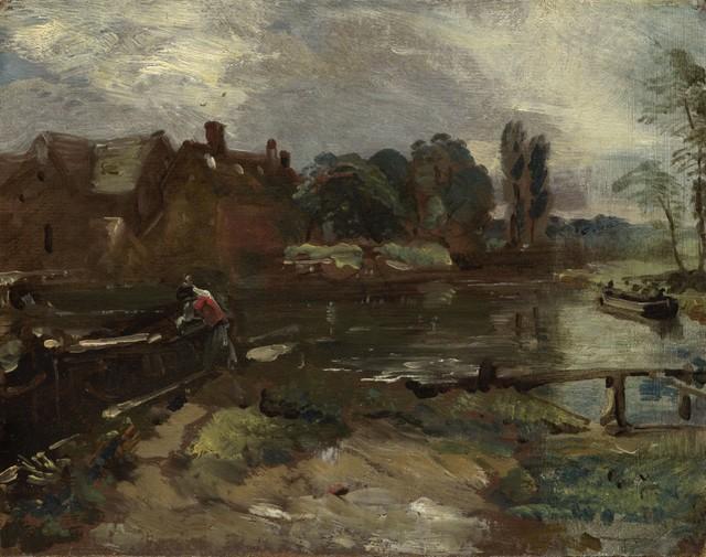 , 'Flatford Mill from the Lock,' ca. 1810, Clark Art Institute