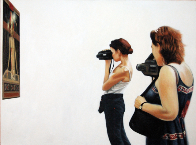 , 'Picture of Two Woman with Painting - Accademia, Florence,' 2001, Benjaman Gallery Group