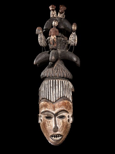 , 'Mask with Coiffure Superstructure (Igbo - Nigeria, Africa),' Early 20th Century, Tambaran
