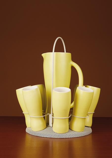 Mathieu Matégot, 'Orange service: a pitcher, eight goblets and a tray', vers 1960, Leclere