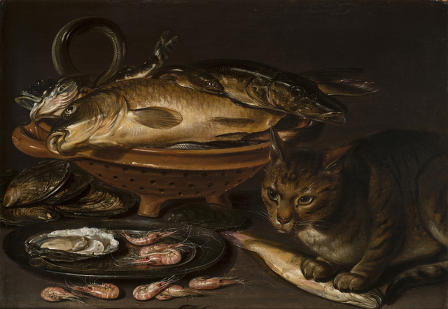 Clara Peeters, 'Still Life of Fish and Cat', after 1620, National Museum of Women in the Arts