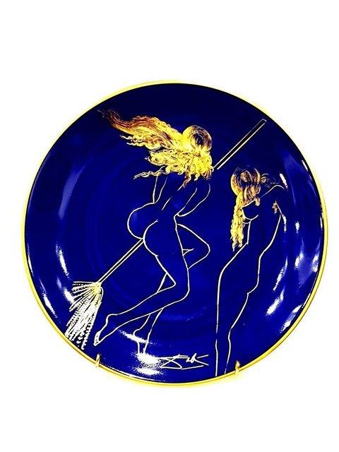 """Salvador Dalí, 'Limoges Porcelain Blue and Gold """"Sabat"""" by Salvador Dali', 1968, Galerie Philia"""