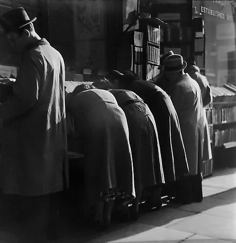 , 'London Charing Cross Road, [People at Bookstore],' 1937, Peter Fetterman Gallery