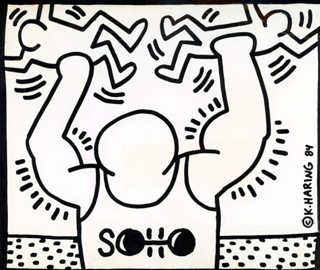 Keith Haring, 'Keith Haring Soho Training Center 1985', 1985, Lot 180