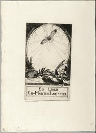 Bookplate of Charles Martin Loeffler