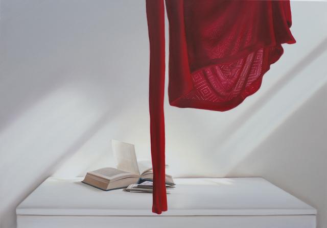 , 'Offenes Buch  mit Rot,' 2018, Galerie Barbara von Stechow