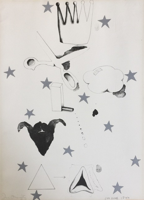 Jim Dine, 'Silver Star', 1966, Print, Lithograph on white wove paper, Artsy x Capsule Auctions