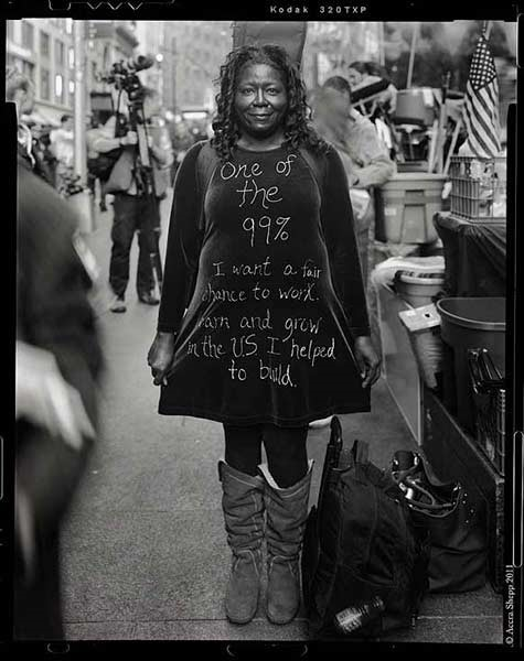 , 'Shadow (from the series Occupying Wall Street),' 2011, Steven Kasher Gallery