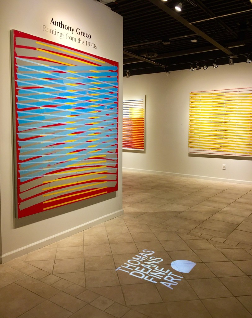 Anthony Greco: Paintings from the 1970s. Left to Right: 314/Three (1974), 314/Fourteen (1976), 314/Twelve (1976)