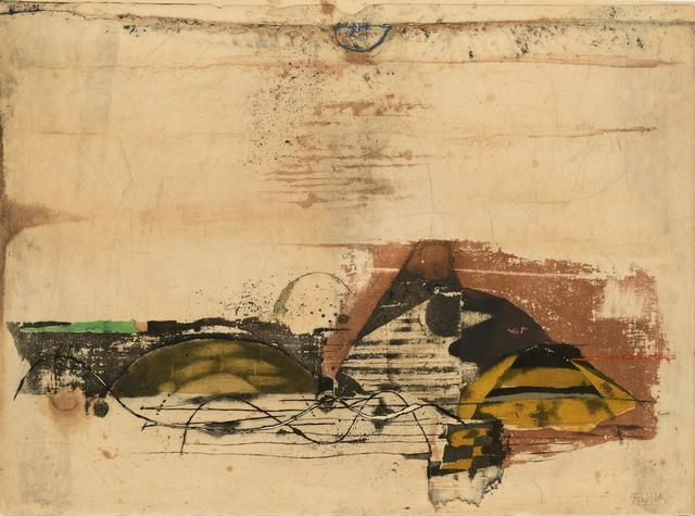 Johnny Friedlaender, ' Paysage jaune', ca. 1970, Le Coin des Arts