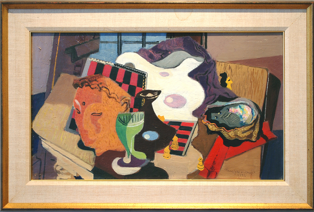 Stanton MacDonald-Wright, 'Still Life with Abalone', 1946, Painting, Oil on canvas, Peyton Wright Gallery