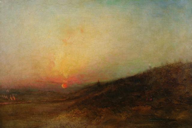 , 'Indian Encampment at Sunset,' , Questroyal Fine Art