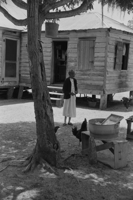 Constantine Manos, 'Untitled, Daufuskie Island, South Carolina (woman in yard)', 1952, Robert Klein Gallery