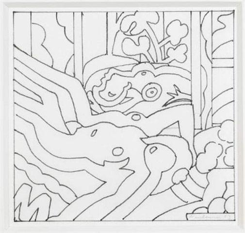 , 'Sunset nude with the dream (study),' 2003, David Benrimon Fine Art