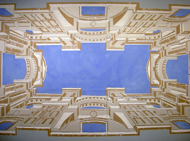 """, '""""Illusionistic architecture for the bolt of St Ignatius"""" AfterAndrea Pozzo,' 2010, Taller Bloc"""