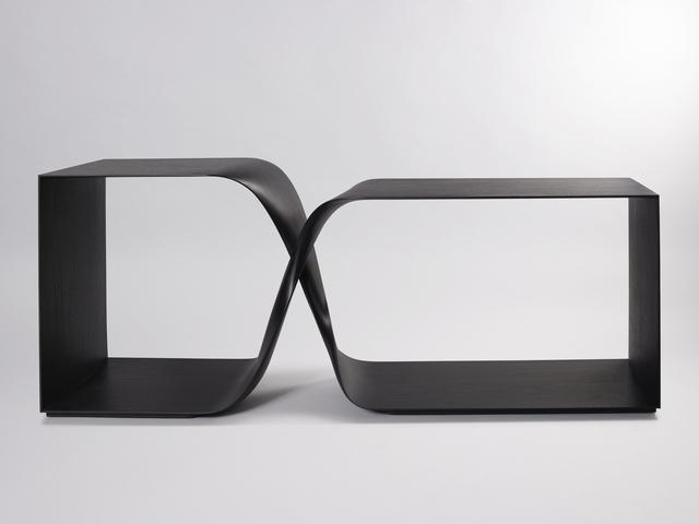 , 'Sculptural Twist Freestanding Console (Ebonized Sapele),' 2015, Galerie BSL