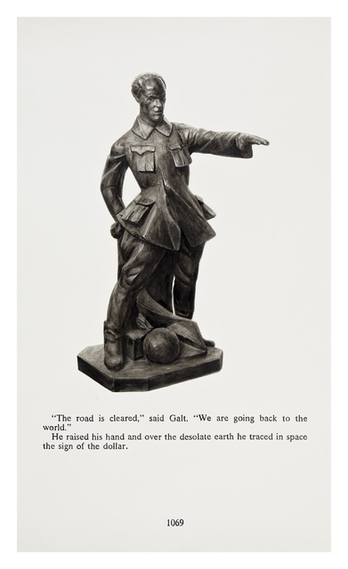 Yevgeniy Fiks, 'Ayn Rand in Illustrations (Atlas Shrugged, page 1069)', 2010, Winkleman Gallery