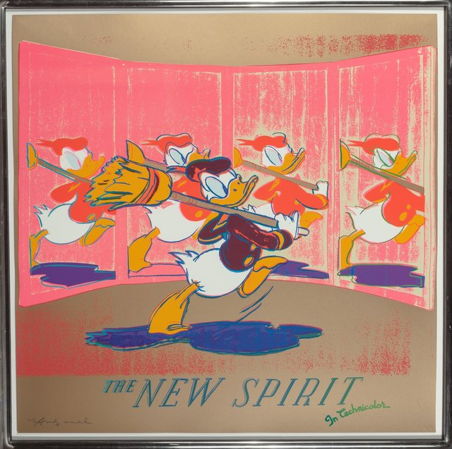 Andy Warhol, 'The New Spirit (Donald Duck), from the Ads portfolio', 1985, Print, Screenprint in colors on Lenox Museum Board, Heritage Auctions