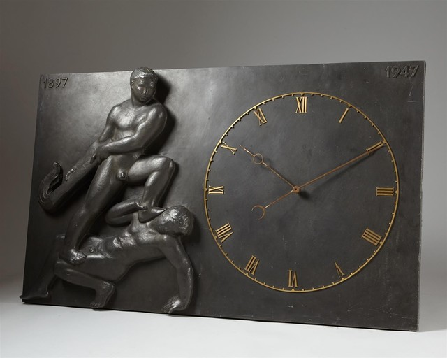 , 'Monumental wall clock,' 1947, Modernity