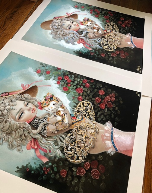 "Kukula, '""Rocokitty"" print', 2019, Print, Giclee print on Rives BFK paper, Haven Gallery"