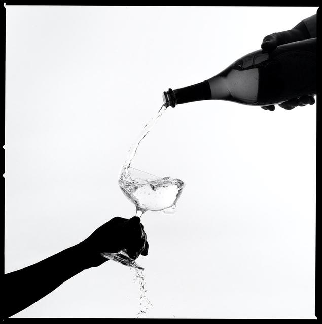 Tyler Shields, 'Champagne Pour Silhouette', 2021, Photography, Chromogenic Print, Samuel Lynne Galleries