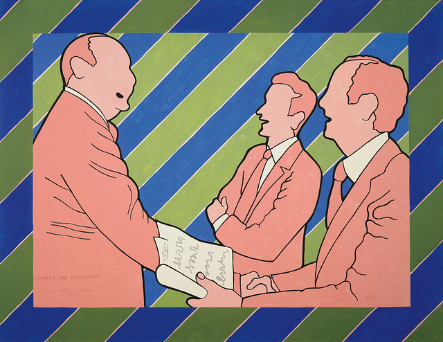 John Wesley, 'Marmalade Executives', 2000, Print, Iris print in colors, on heavy wove paper, the full sheet., Phillips