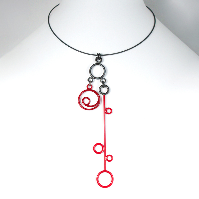 , 'Necklace with Two Sterling Silver and Red Charms,' 2014, The Gallery at Reinstein|Ross