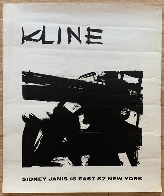 Franz Kline, 'Original Sidney Janis Gallery Exhibition Poster', 1958, Kwiat Art