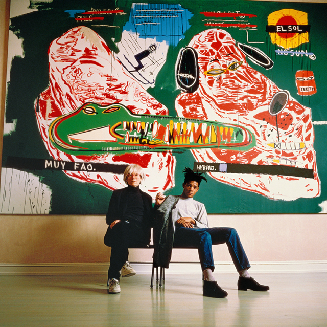Tseng Kwong Chi, 'Warhol and Basquiat Sitting, 1987', 1987, Eric Firestone Gallery