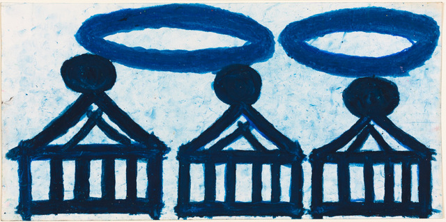 , 'Three Cakes (Blue with Rubberbands),' 2004, Creativity Explored