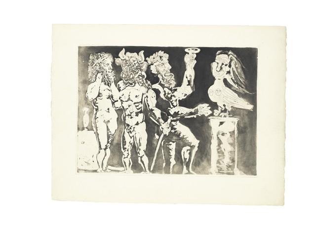 Pablo Picasso, 'Chez la Pythie-Harpye. Homme au Masque de Minotaure et Femme au Masque de Sculpteur (S.V. 24)', 1934, John Szoke