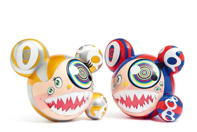 Takashi Murakami, 'ComplexCon: Mr. Dob (red/blue). ComplexCon: Mr. Dob (gold/silver)', 2016, Koller Auctions