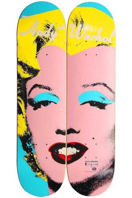 Andy Warhol, 'Andy Warhol Marilyn Skateboard Decks (diptych/set of two) ', ca. 2012, Lot 180