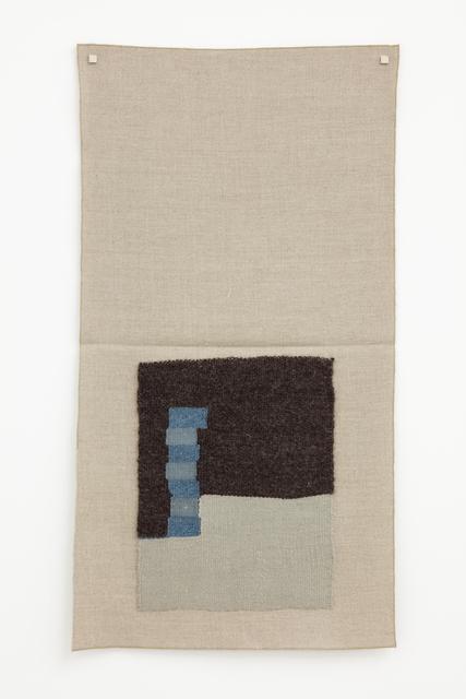 , ' Undyed dark brown, light silver, light blue, lighter gray- blue,' 2015, Galerie Nordenhake