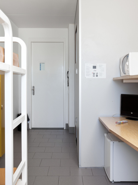, 'Voor vrij Nederland (immigration detention, location Rotterdam) left image,' 2015, Van Kranendonk
