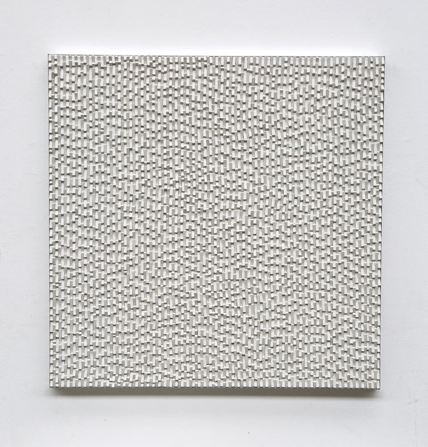 Reiner Seliger, 'Kreideschichtung weiß', 21st century, Sculpture, Wall sculpture made of white chalk, Galerie Kellermann
